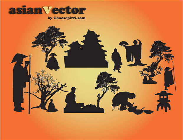 Oriental Asian Vector Art