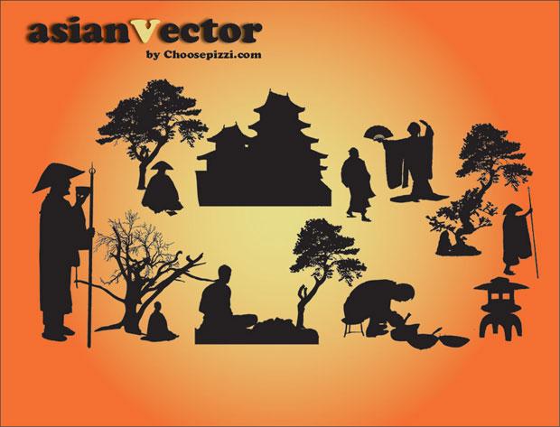 Oriental Asian Vector Art