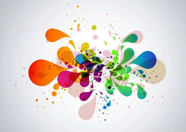Abstract Splats Vector Art