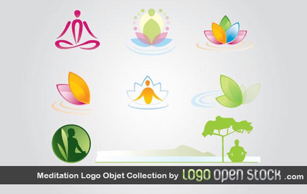Meditation Logos Vector