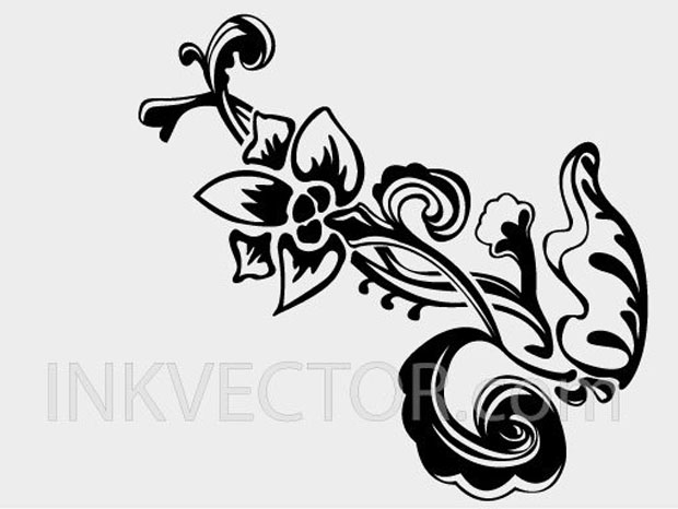Handdrawn Floral Vector Art