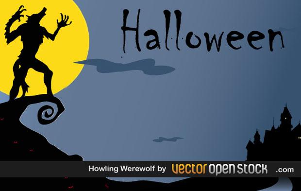 Howling Werewolf Vector Art