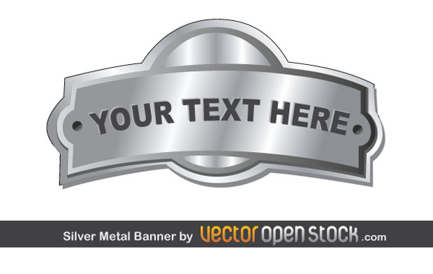 Silver Metal Banner Vector Art