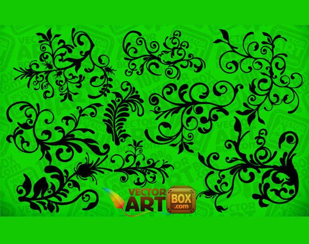 Floral Clip Art Vector