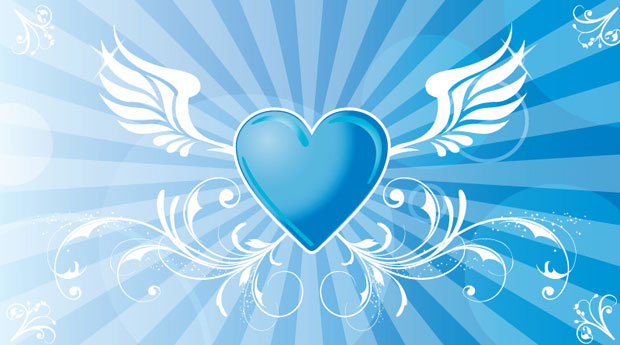 Winged Heart Vector Art