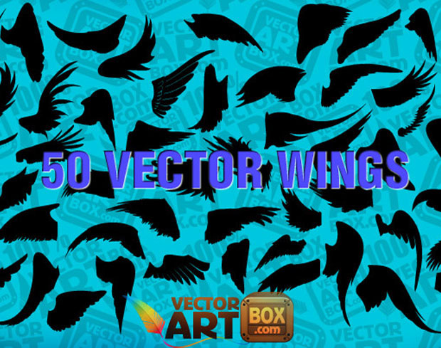 Wings Silhouettes Vector