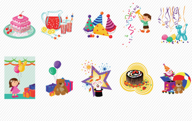 Kids Party Vector Art Pack 2