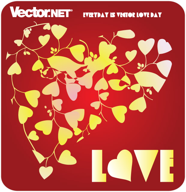 Swirl Of Hearts Vector
