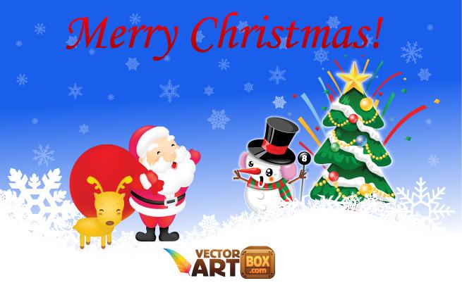 Cute Christmas Santa Vector Art
