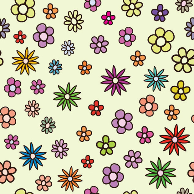 Cute Baby Flowers Vector