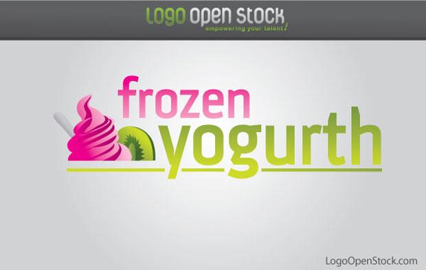 Frozen Yoghurt Vector
