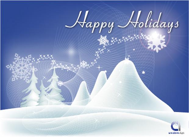 Happy Holiday Vector Card
