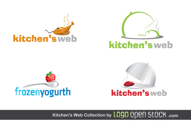 Kitchen Web Logo Vector Collection