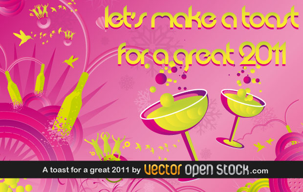 New Year Toast Vector