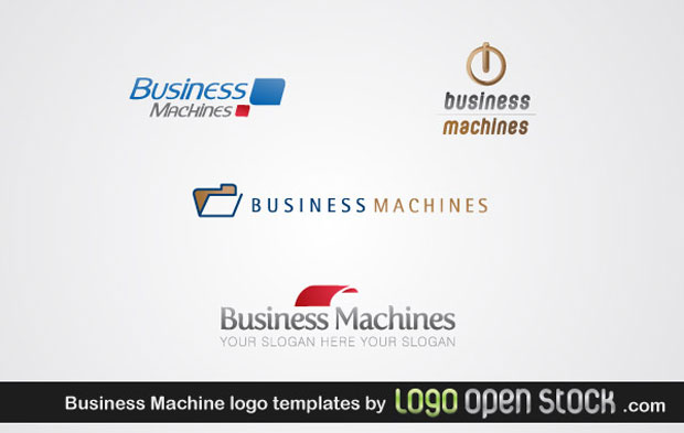 Business Machine Logo Vector