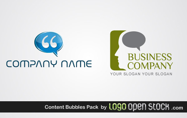 Content Bubble Logo Vectors