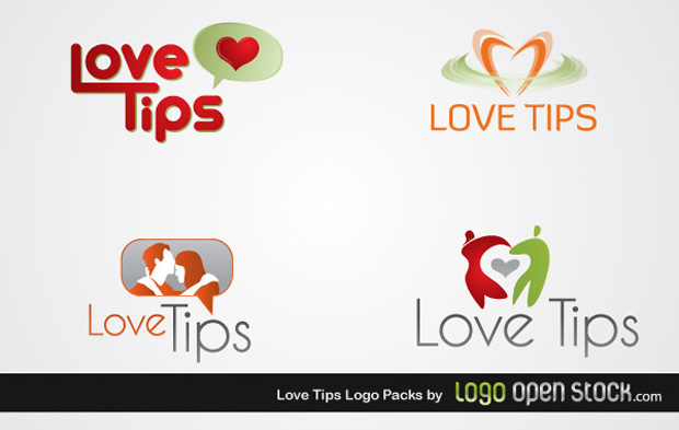 Love Tips Logo Vectors