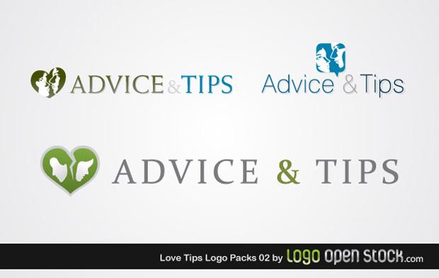 Love Tips Logo Vector