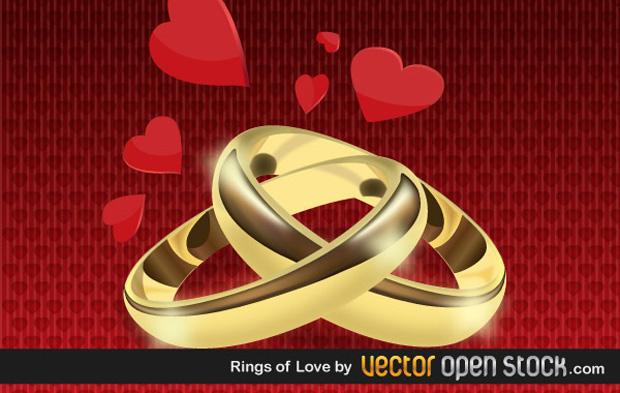 Rings Of Love Vector