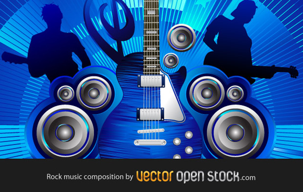 Rock Music Composition Vector