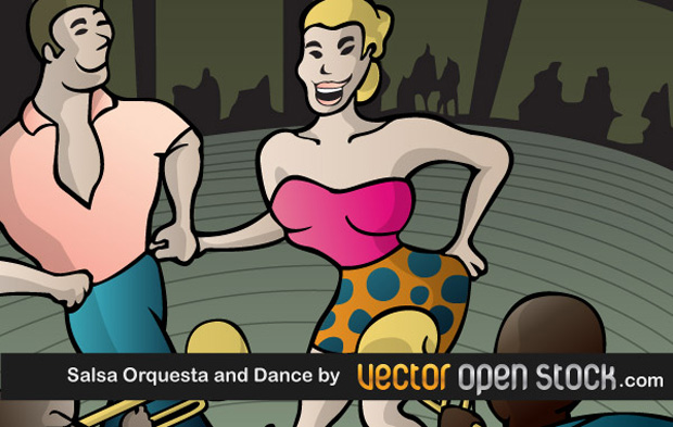 Salsa Dance Vector Art