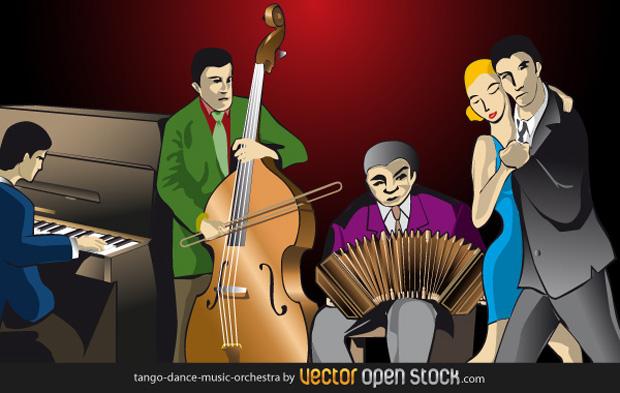 Tango Music Orchestra Vector