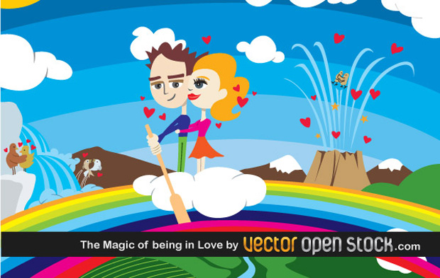 The Magic Of Being In Love Vector