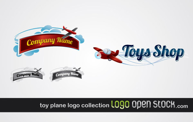 Toy Plane Logo Vector