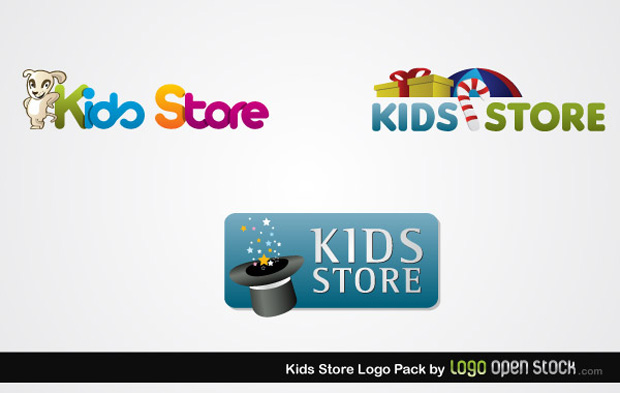 Kids Store Logo Vector