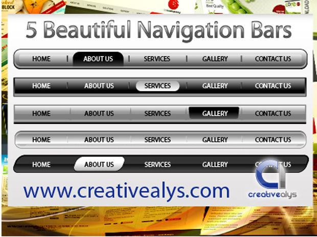 Navigation Web Bar Vector