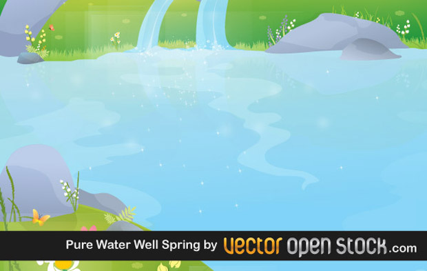 Pure Water Spring Vector