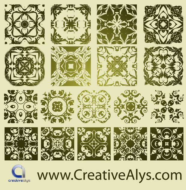 Antique Floristic Vector