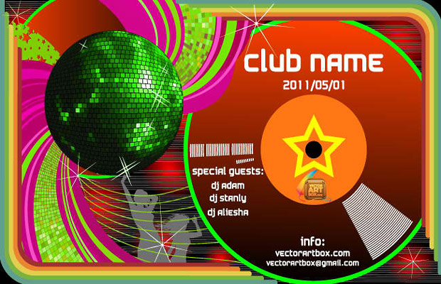 Club Poster Vector Template