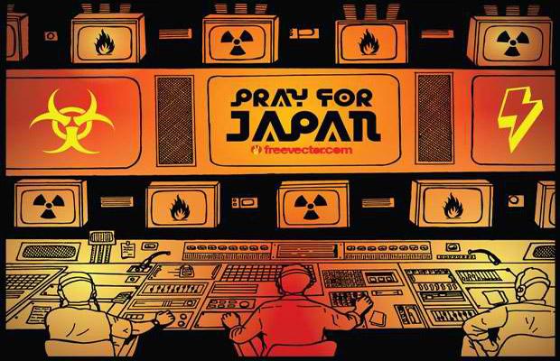 """""""Pray for Japan"""" Vector Art"""