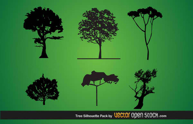 Tree Silhouette Vector Art