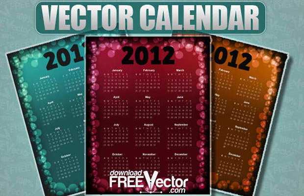 2012 Vector Calendar Design
