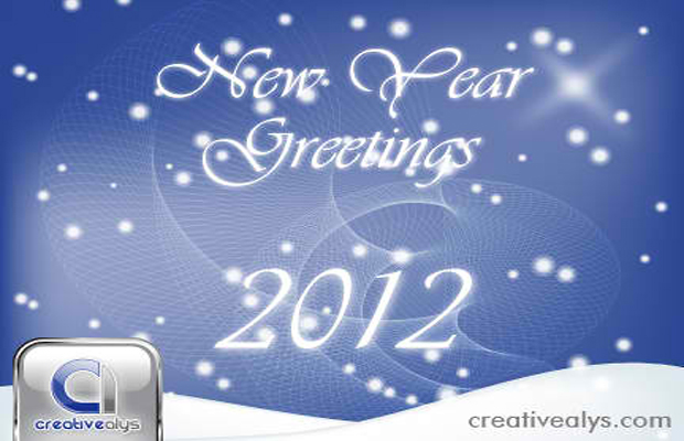 2012 Vector Greeting Art