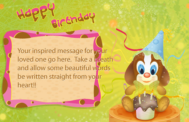 Creative Birthday Vector Postcard