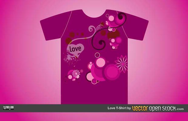 Creative Love Shirt Vector