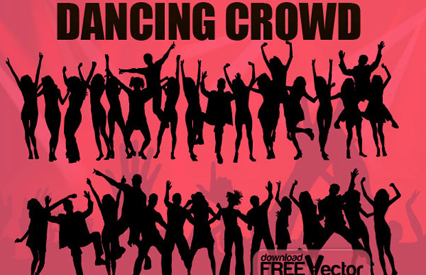 Dancing Crowd Vector Graphic