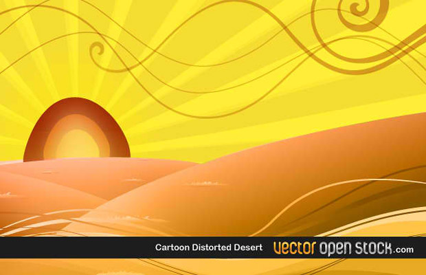Desert Abstract Vector Design