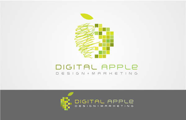 Digital Apple Vector Art