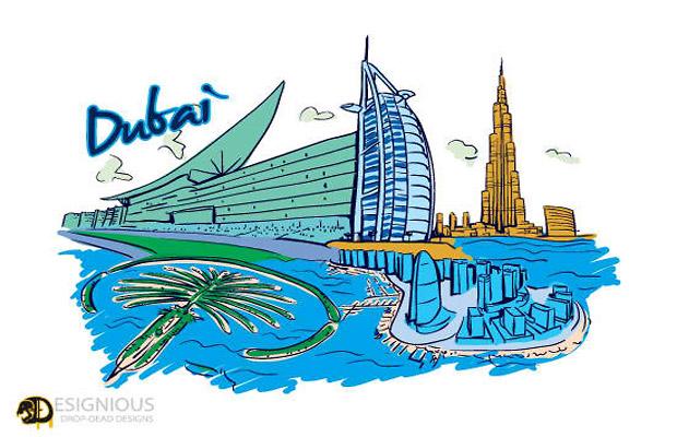 Dubai Vector Art
