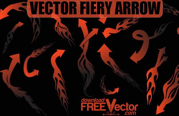 Fiery Arrow Vector Art