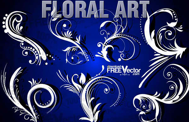 Floral Vector Design Clipart