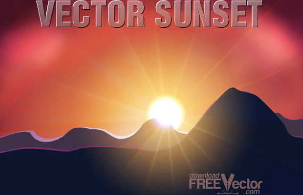 Free Sunset Vector Art