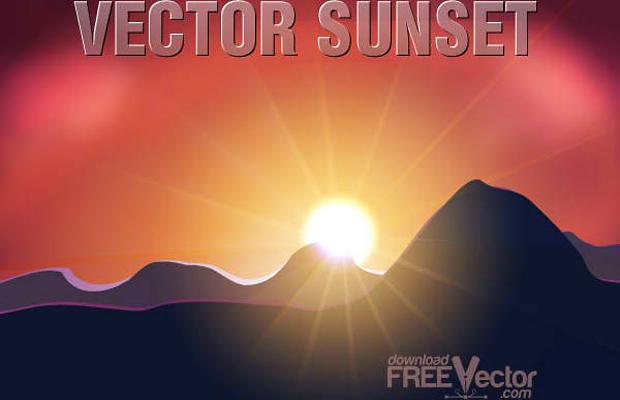 Free Sunset Vector Art