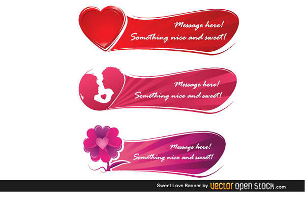 Love Banner Vector Art