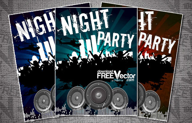 Night Party Vector Flyer
