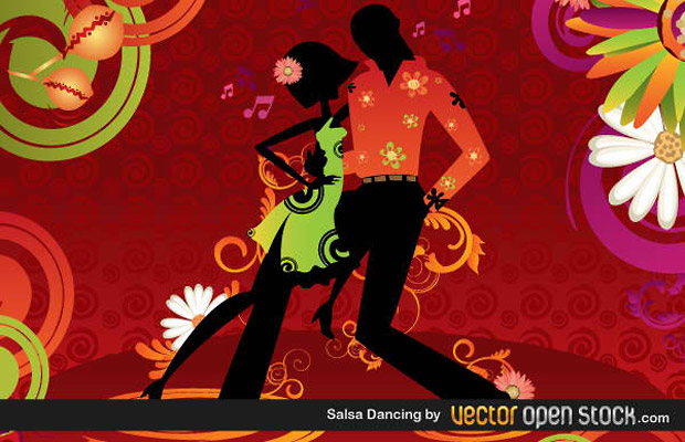 Salsa Dancing Vector Art